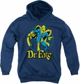 DC Comics youth teen hoodie Dr Fate Ankh navy