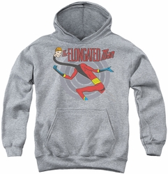 DC Comics youth teen hoodie Elongated Man athletic heather