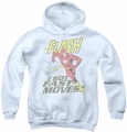DC Comics youth teen hoodie Fast Moves white