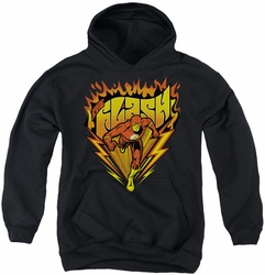 DC Comics youth teen hoodie Flash Blazing Speed black