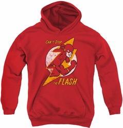 DC Comics youth teen hoodie Flash Bolt red