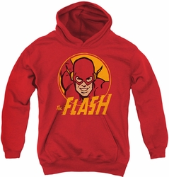 DC Comics youth teen hoodie Flash Circle red