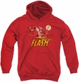 DC Comics youth teen hoodie Flash Crimson Comet red