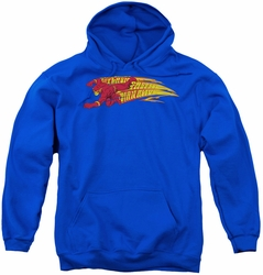 DC Comics youth teen hoodie Flash Fastest Man Alive royal blue
