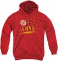 DC Comics youth teen hoodie Flash Like Lightning red
