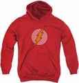 DC Comics youth teen hoodie Flash Little Logos red