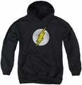 DC Comics youth teen hoodie Flash Logo Distressed black