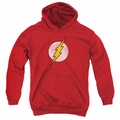 DC Comics youth teen hoodie Flash Logo Distressed red