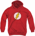 DC Comics youth teen hoodie Flash Logo red