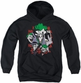 DC Comics youth teen hoodie Four Of A Kind black