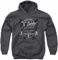 DC Comics youth teen hoodie Greatest Heroes charcoal