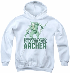 DC Comics youth teen hoodie Green Arrow Archer white