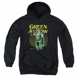 DC Comics youth teen hoodie Green Arrow Pull black