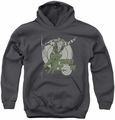DC Comics youth teen hoodie Green Arrow Right On Target charcoal