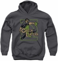 DC Comics youth teen hoodie Green Lantern Ring Power charcoal