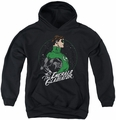 DC Comics youth teen hoodie Green Lantern Star Gazer black