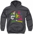 DC Comics youth teen hoodie Green Lantern Vs Sinestro charcoal