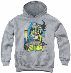 DC Comics youth teen hoodie Heroic Trio athletic heather