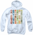 DC Comics youth teen hoodie Justice League Columns white