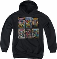 DC Comics youth teen hoodie Justice League Covers black