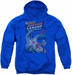 DC Comics youth teen hoodie Justice League No 28 royal blue