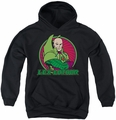 DC Comics youth teen hoodie Lex Luthor black