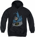 DC Comics youth teen hoodie Lite Brite Batman black