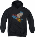 DC Comics youth teen hoodie Lite Brite Superman black