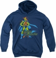 DC Comics youth teen hoodie Martian Manhunter navy