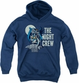 DC Comics youth teen hoodie Night Crew navy