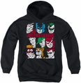 DC Comics youth teen hoodie Nine Blocks Of Justice black