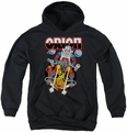 DC Comics youth teen hoodie Orion black