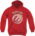 DC Comics youth teen hoodie Plastic Man Bounce red