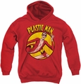 DC Comics youth teen hoodie Plastic Man red