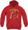 DC Comics youth teen hoodie Plastic Man Street red