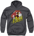 DC Comics youth teen hoodie Run Flash Run charcoal
