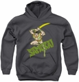 DC Comics youth teen hoodie Samurai charcoal