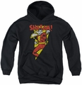 DC Comics youth teen hoodie Shazam In Bolt black