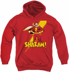 Shazam! youth teen hoodie Shazam! red