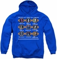 DC Comics youth teen hoodie Stage Select royal blue