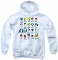 DC Comics youth teen hoodie Superhero Issues white