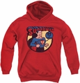 DC Comics youth teen hoodie Superman 64 red