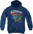 DC Comics youth teen hoodie Superman Astronomy navy