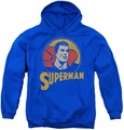 DC Comics youth teen hoodie Superman Circle royal blue