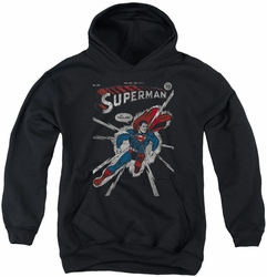 DC Comics youth teen hoodie Superman Cover Me black