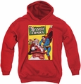 DC Comics youth teen hoodie Superman Cover No. 105 red