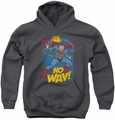 DC Comics youth teen hoodie Superman No Way charcoal