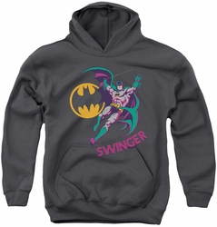 DC Comics youth teen hoodie Swinger charcoal