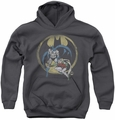DC Comics youth teen hoodie Team charcoal