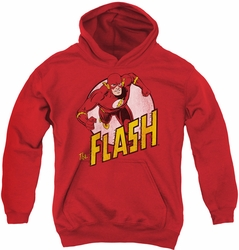 DC Comics youth teen hoodie The Flash red